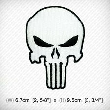 new THE PUNISHER EMBROIDERED PATCH IRON ON or SEW clothes decorate HARDCORE COOL