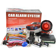1 Way Car Alarm Protection Security System Keyless Entry Siren 2 Remote LOCAL PK