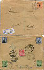 BRITISH LEVANT, REGISTERED FROM CONSTANTINOPLE TO COTTBUS, 1923, 6 STAMPS      m