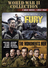 World War II Collection: Fury/Monuments Men (DVD, 2015, 2-Disc Set)  Brad Pitt