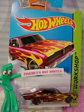 Case E 2015 i Hot Wheels 74 BRAZILIAN DODGE CHARGER #206☆Maroon-Magenta☆Heat