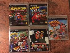 Crash Bandicoot 1-3, CTR AND CRASH BASH Collection Of Empty  Cases. PS1 PS2