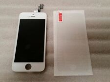 Iphone 5s White LCD Digitizer Screen Assembly Digi  & Tempered Glass