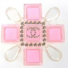 Auth CHANEL CC Logo Pin Brooch Plastic Pink 04A France Vintage Accessory 62G675