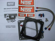 NOS/NITROUS/NX/ZEX/EDELBROCK/ BIGSHOT HOLLEY DOMINATOR PLATE KIT 175-400HP-NEW!
