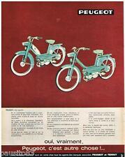 PUBLICITE ADVERTISING 105  1964  PEUGEOT  cyclomoteur