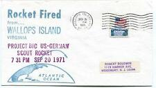 1971 Wallops Island ROCKET FIRED Project BIC Scout Germany WFF Goddard Base NASA