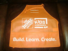 NEW HOME DEPOT KIDS WORKSHOP ORANGE APRON BUILD LEARN CREATE GIRLS BOYS