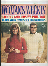 WOMAN'S WEEKLY 22 JAN 1972 KNITTING RECIPES JACKETS JERSEYS - LUCILLA  ANDREWS