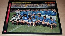 CARD GOLD 1993 NAPOLI SQUADRA CALCIO FOOTBALL SOCCER ALBUM
