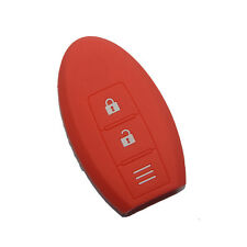 Red Silicon car key fob cover for Nissan Micra Murano Juke Alissa Pulsar xtrail