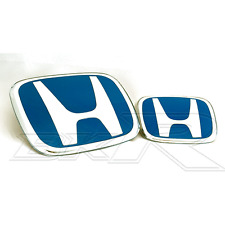 Honda Civic 01-03 JDM EP EP3 Type R 2001 -  2003 front rear H BLUE Badge Emblem