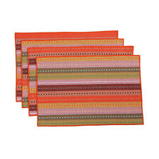 Washable Insulation Placemats Woven Cotton Linen Braided Ribbed Cloth Table Mats