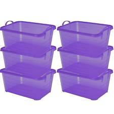 Life Story Purple Stackable Closet & Storage Box 55 Quart Containers (6 Pack)