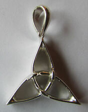 Celtic Sterling Silver  Triquetra Charmed Symbol Blade Pendant