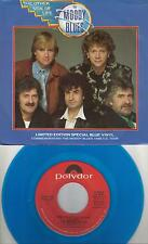 THE MOODY BLUES  The Other Side Of Life  rare blue vinyl 45 with PicSleeve