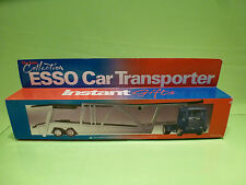 METAL SCANIA 143M 450 TRUCK + CAR TRANSPORTER  - ESSO - BLUE 1:50 - NMIB