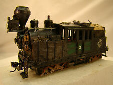 Steam Logging Engine - HO Climax - custom weathered - fully serviced - lot 2