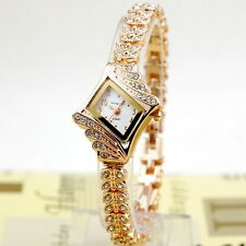 Women's Fashion Silver Alloy Crystal Quartz Rhombus Bracelet Bangle Wrist Watch