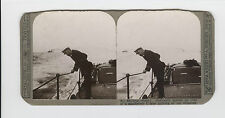 WWI Stereoview (Realistic) - Destroyer speeds on trail of a murderous U-boat