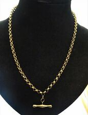 "18"" 9ct Yellow Gold BELCHER Chain Necklace T BAR 8.3gr Hm"