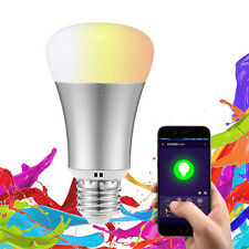 Wifi RGB LED E27 Dimmable Bulb Light Lamp Smart Phone Control APP Android IOS