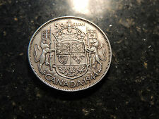 1944 CANADA SILVER .50 FIFTY CENTS GEORGE VI COIN (F-14).