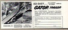 1956 Print Ad Gator Boat Trailers Peterson Bros Inc Jacksonville,FL