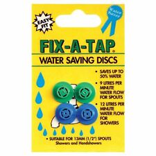 """Fix-A-Tap WATER SAVING DISCS for 13mm (½"""") spouts showers handshowers 4pc"""