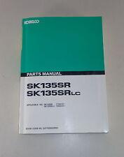 Ersatzteilkatalog / Spare Parts List Kobelco Kettenbager SK 135 SR / LC von 1990