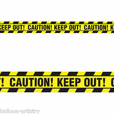 6.1m Classic Halloween Party Caution Keep Out Tape Streamer Banner Decoration