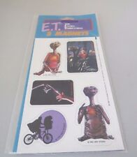 Vintage E.T.  Extra Terrestrial 1982 sheet of 5 magnets