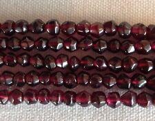 """Natural Dark Red Garnet Faceted Round 4mm Gemstone 14"""" Strand Bead Bargain"""