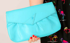 80s vintage bright blue flash clutch bag shoulder bag by Stein Montreal