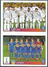PANINI-2016 FIFA 365- #043-044-U20 WORLD CUP-USA-UKRAINE TEAM PHOTOS