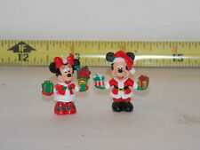 Mickey Mouse  Minnie Mouse Christmas Figure Xmas Miniatures Fairy Garden Disney
