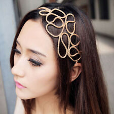 Fashion Hollow Out Braided Gold Head Band Stretch Hair Accessories Gossip Girl