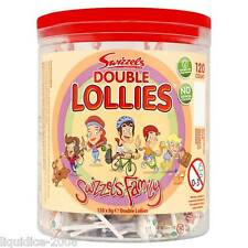 SWIZZLES FAMILY TUB DOUBLE LOLLY POPS LOLLIES 120 LOLLIPOPS CANDY HALLOWEEN