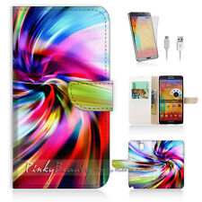 Samsung Galaxy Note 3 Print Flip Wallet Case Cover! Colourful Pattern P0070