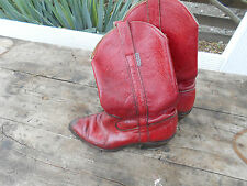 RARES BOTTES BRONCO T 39  ROUGE SANG COW GIRL COUNTRY WESTERN VINTAGE 25€ ACH IM