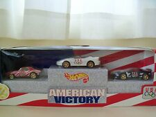 HOT WHEELS - AMERICAN VICTORY - USA OLYMPIC CAMARO SET - 1967 / 1995 / 1993