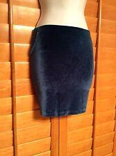 NWT BCBG Midnight Haze Blue Velvet Mini Skirt Sz XXS**