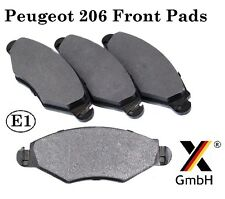 Peugeot 206, 306 & Xsara Front Brake Pad Set (4 pads Bosch system) NEW Germany