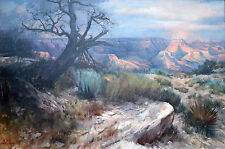ORIGINAL.**Earl Carpenter**  Grand Canyon Large Oil Painting Tree Southwest Art