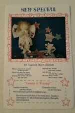 """Sew Special Oh Heavenly Days Collection """"Sunday is Worship"""" Craft Pattern-Uncut"""