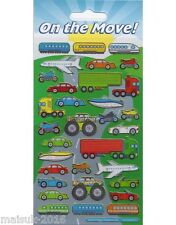 Paper Projects ON THE MOVE Transport Reusable  Foiled Stickers Age 3+ Craft