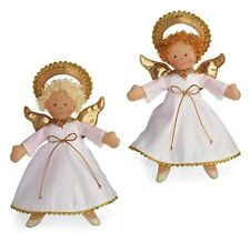 North American Bear Angel Dolls Set of 2  XMas Tree Toppers Finger Puppets NWT