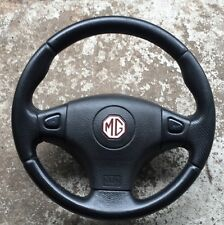 MGF/MGTF/MG TF Black Leather Steering Wheel  and Airbag