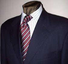 Pal Zileri 3 btn navy w/blue stripe Loro Piana 120s wool suit 44 L Made in Italy