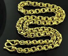75.00 GRAMS 24K  YELLOW GOLD bullion 9999 CHAIN HANDMADE NECKLACE 24 inches